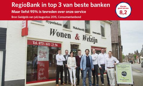 Regiobank in top3 van beste banken - Wonen & Welzijn