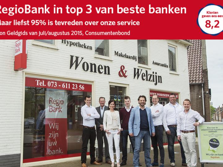 RegioBank in top 3 beste banken
