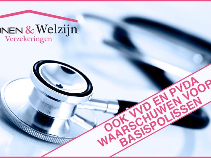 Ook VVD en PVDA waarschuwen voor basisverzekeringen