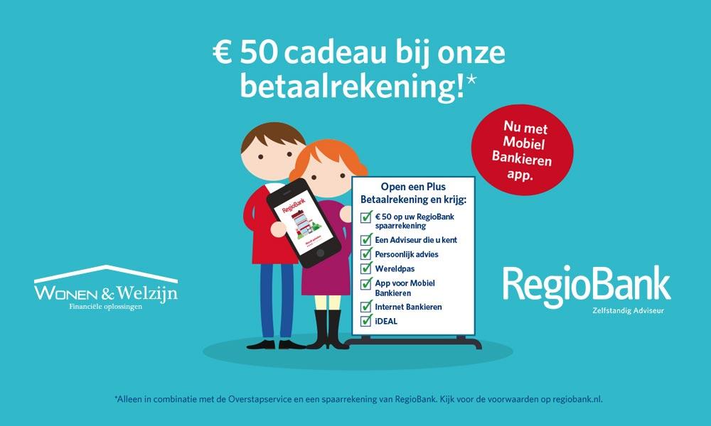 Stap over van betaalrekening tijdens de overstapweken van Regiobank - Wonen & Welzijn
