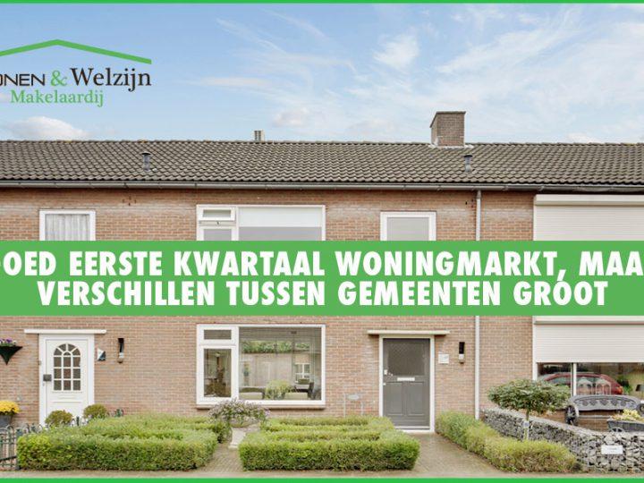 Goed eerste kwartaal woningmarkt verschillen tussen gemeentes groot