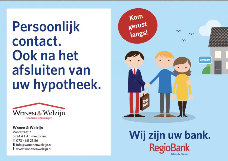 Persoonlijk contact, ook na het afsluiten van uw hypotheek - Wonen en Welzijn
