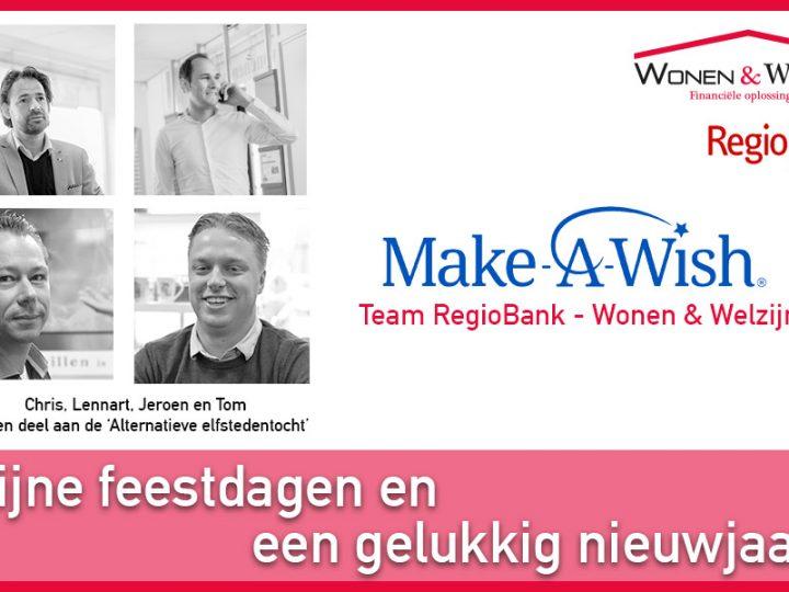 RegioBank – Wonen & Welzijn zet zich in voor Make A Wish
